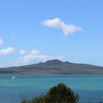 Summer View of Rangitoto Island