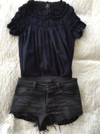 ksubi shorts & Karen Walker Dress as Top