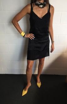 Zambesi Black Satin Dress
