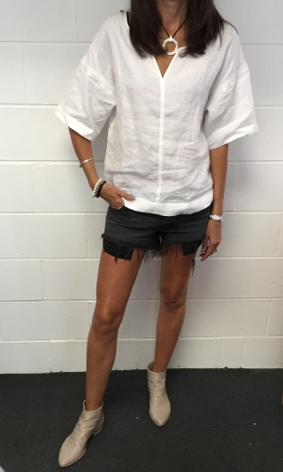 Ksubi shorts with Italian boots