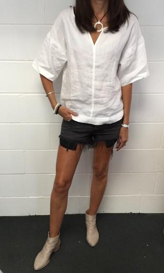 Ksubi shorts with Italian boots