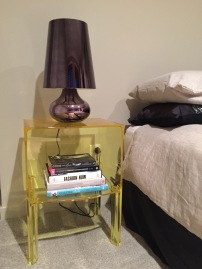 Kartell side table & lamp