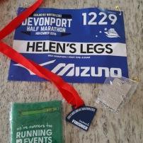 My running bib Devonport Half Marathon
